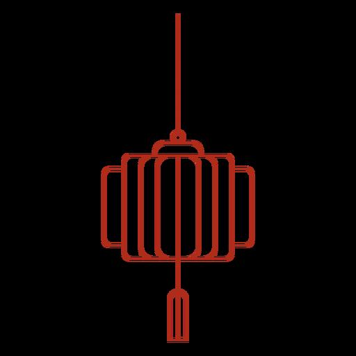 Traditional chinese lantern stroke