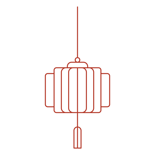 Trazo de linterna china tradicional