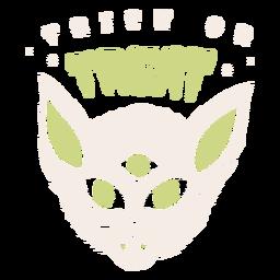 Truco o trato insignia de halloween