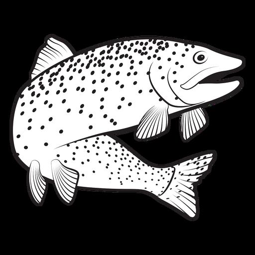 Trout fish stroke