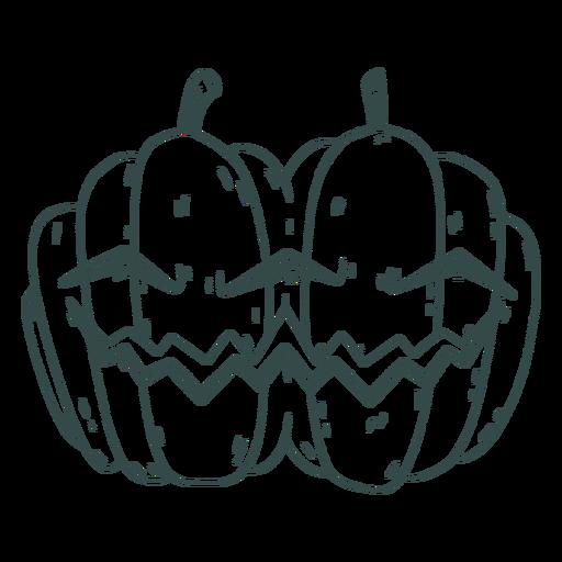 Twin pumpkin stroke