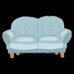 Sofá de dos plazas plano