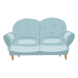 Two seater couch flat