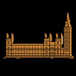 Trazo de color del parlamento británico