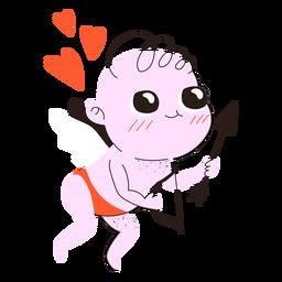 Doodle fofo de cupido do dia dos namorados