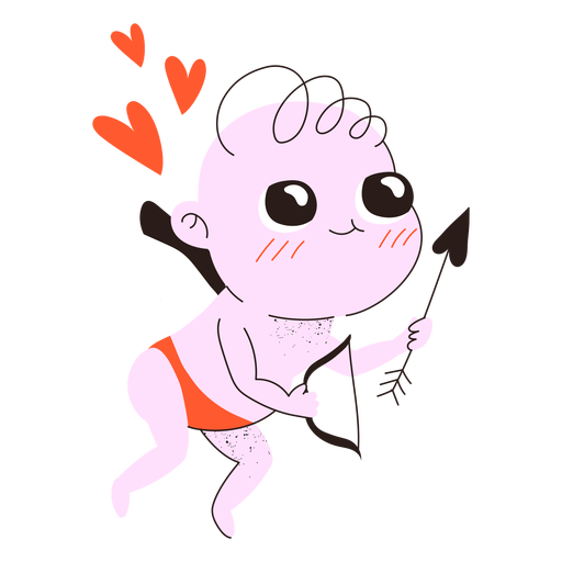 Valentine's day cute cupid doodle