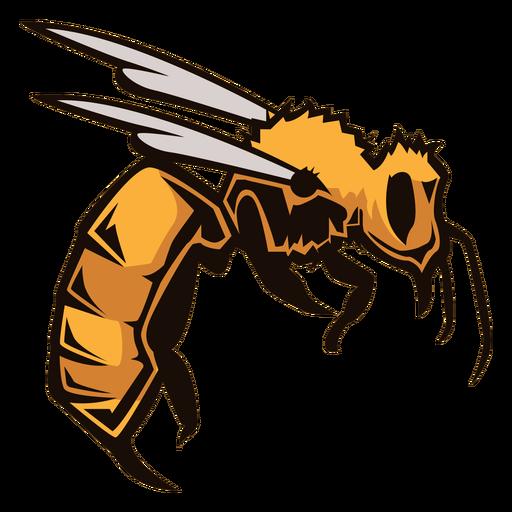 Logotipo de insecto avispa