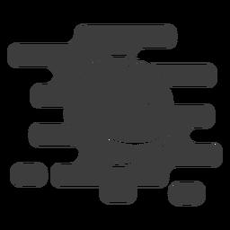 Wellenförmiger Basketballball ausgeschnitten
