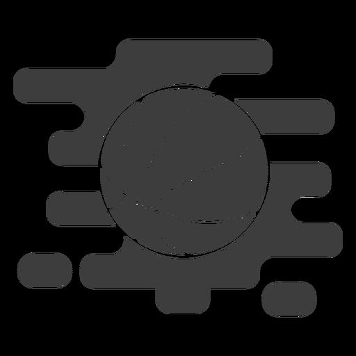 Pelota de baloncesto ondulada cortada