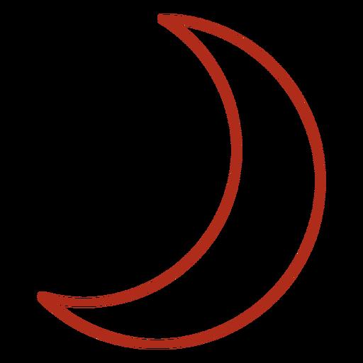 Trazo de luna creciente encerada