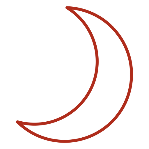 Waxing crescent moon stroke Transparent PNG