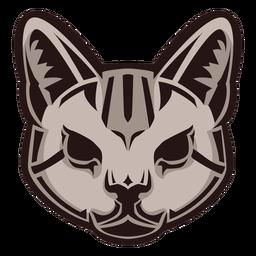 Logotipo da cabeça do gato selvagem