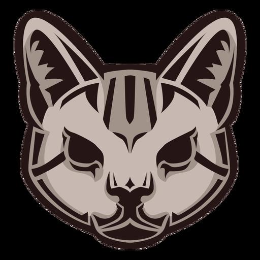 Logotipo de cabeza de gato salvaje