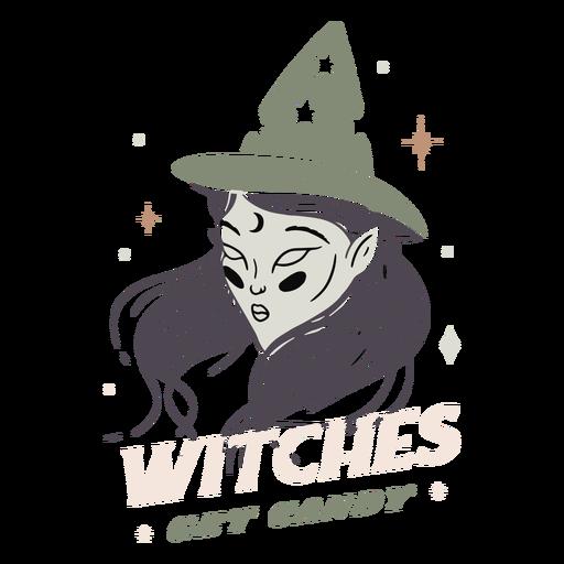 Hexen bekommen Süßigkeitenabzeichen