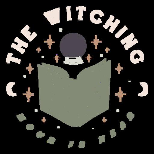 La hora de las brujas est? cerca de la insignia