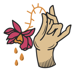 Withered flower hand tattoo