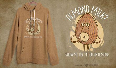 Almond milk? t-shirt design