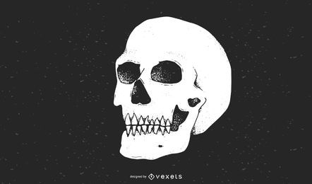 Cráneo vector ai
