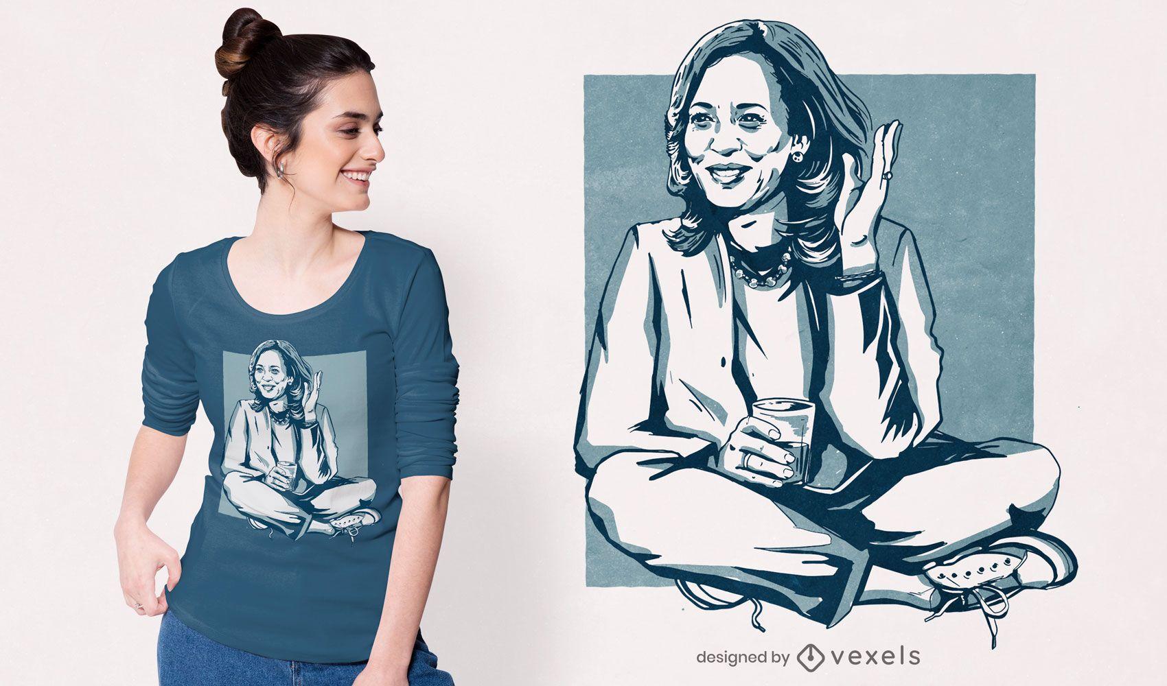 Diseño de camiseta de Kamala Harris