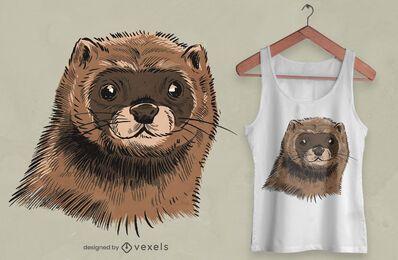 Design de t-shirt vison