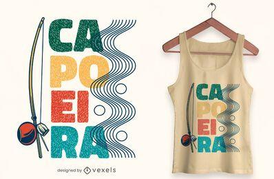 Diseño de camiseta Berimbau capoeira