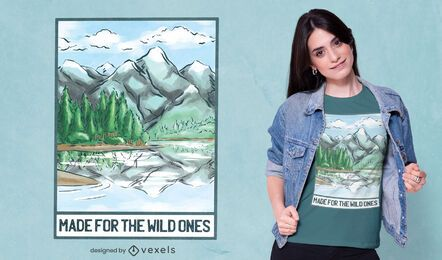 For the wild ones t-shirt design