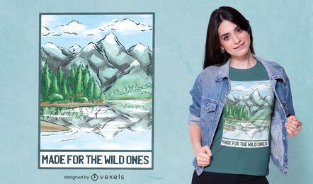 Para os selvagens design de camisetas
