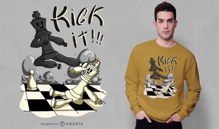 Chess kick t-shirt design