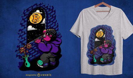 Bitcoin moon t-shirt design