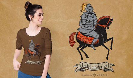 Diseño de camiseta lady lunchalot