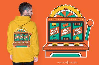Diseño de camiseta de máquinas tragamonedas.