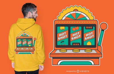 Slot machines t-shirt design