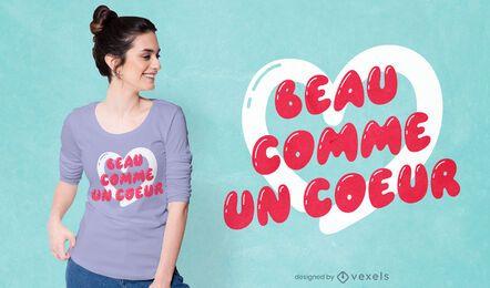 Beau coeur t-shirt design