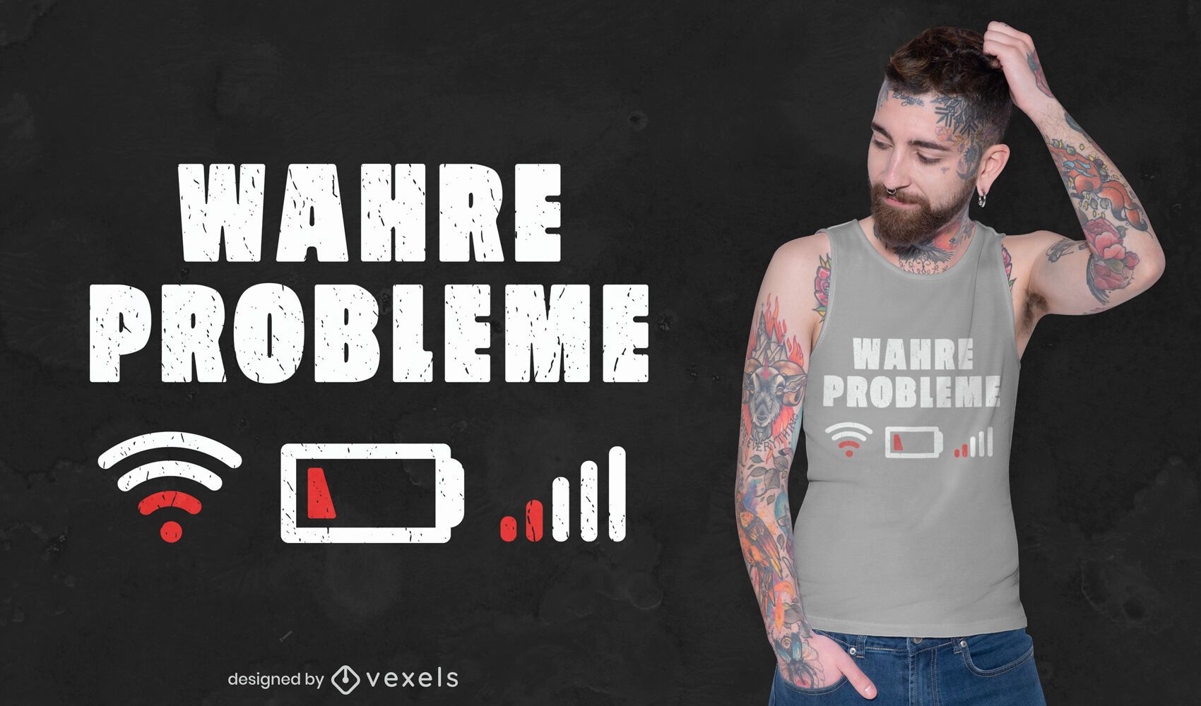 Diseño de camiseta de problemas reales.