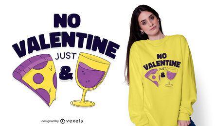 Sem design de t-shirt dos namorados