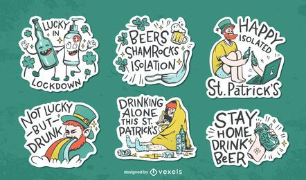 St Patrick sticker set