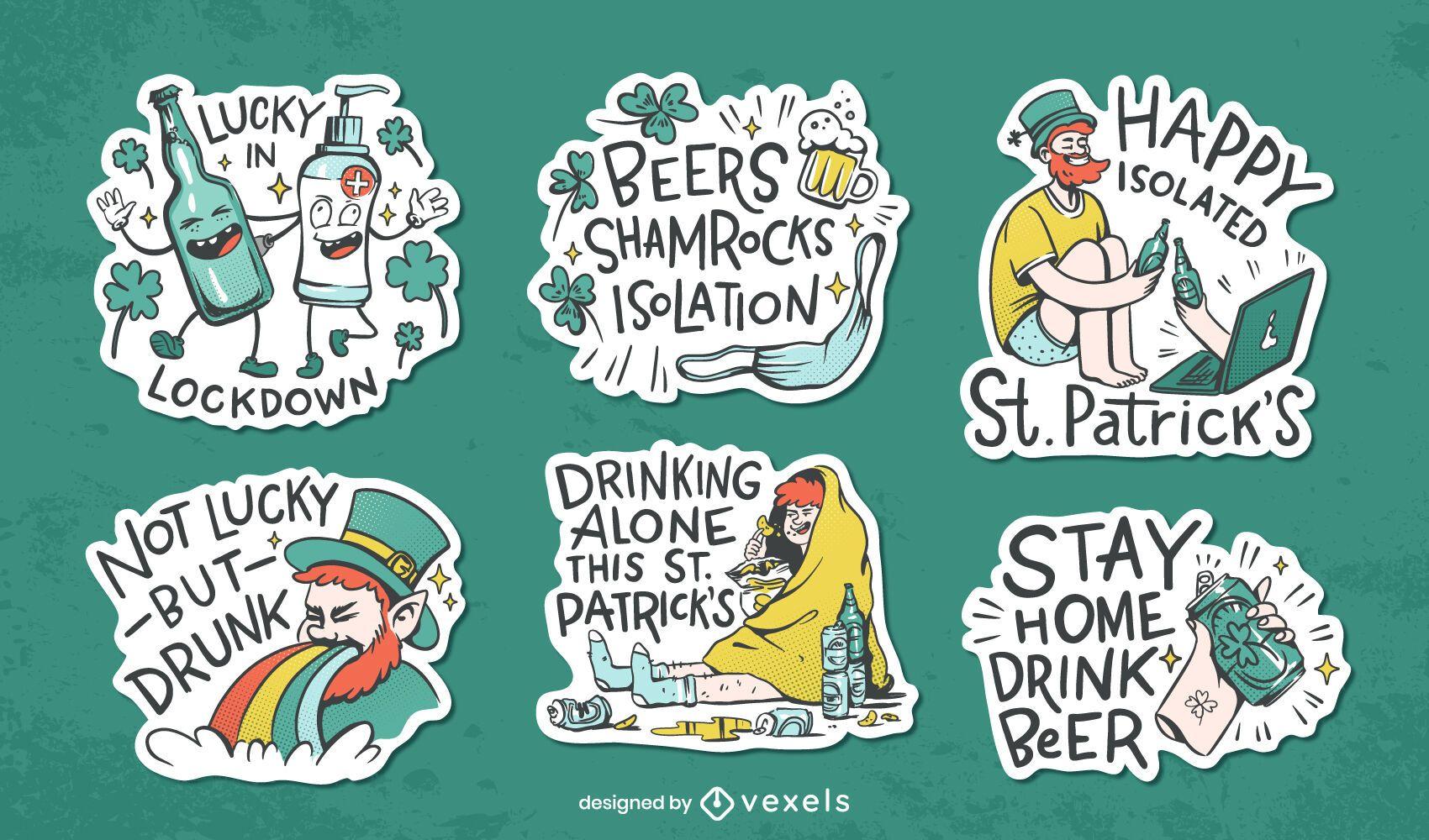 Conjunto de pegatinas de St Patrick