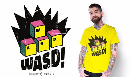 Design de camiseta WASD