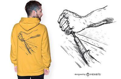 Wood carving t-shirt design