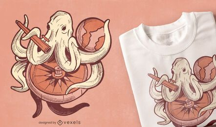 Octopus Earth t-shirt design