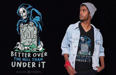 Diseño de camiseta LOL Tombstone