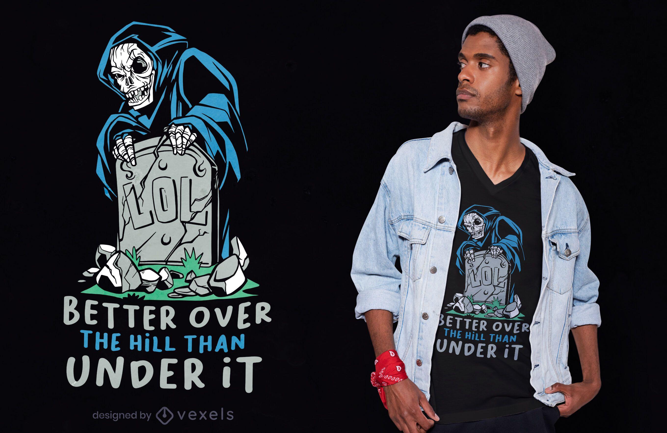 LOL tombstone t-shirt design
