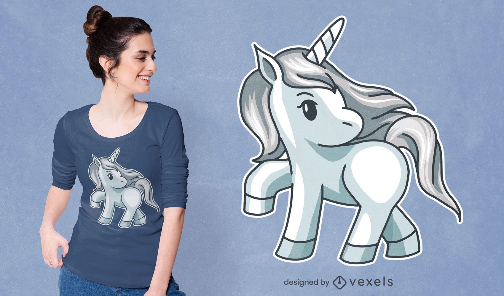 Silver unicorn t-shirt design