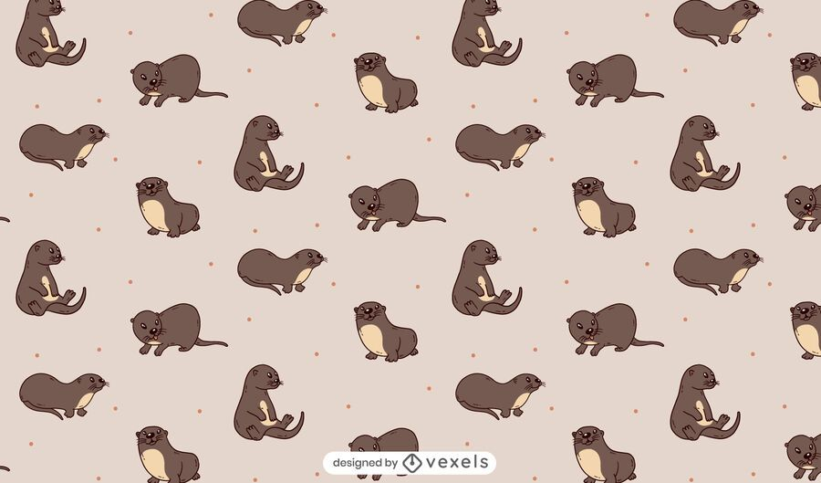 Otters pattern design