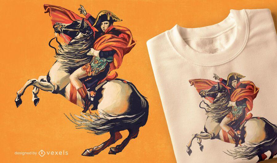 Diseño de camiseta de retrato de Napoleón