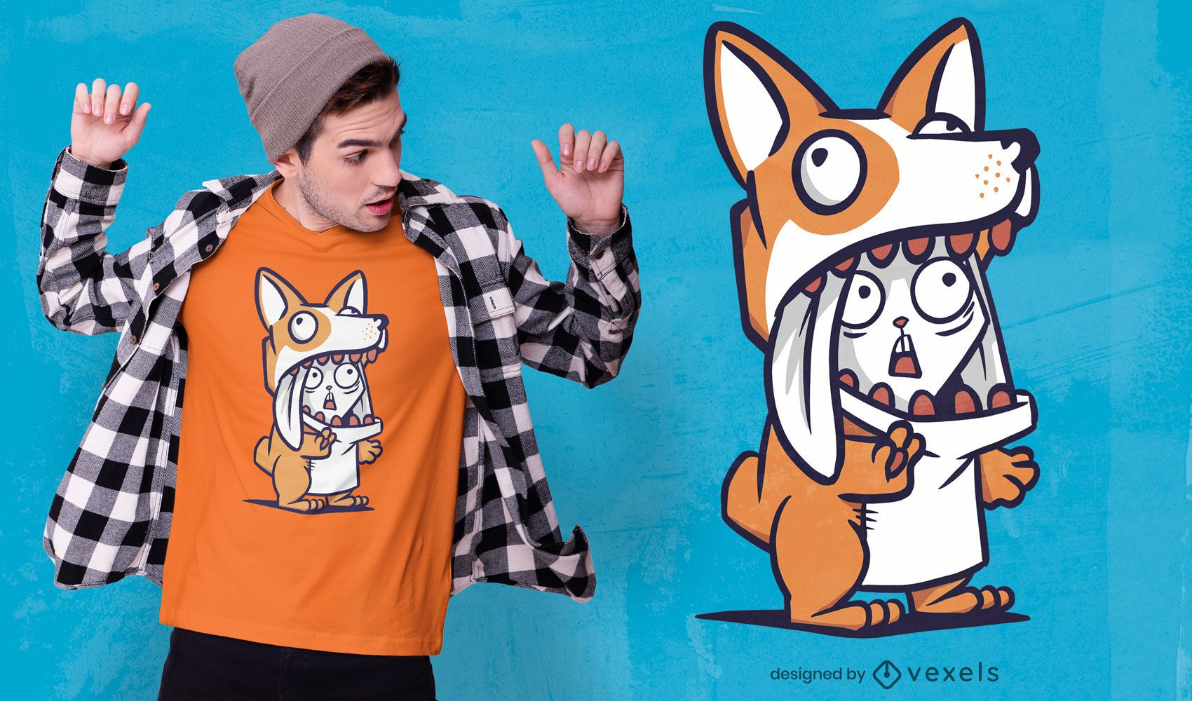 Corgi costume t-shirt design