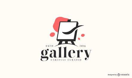 Logotipo da empresa da galeria de arte