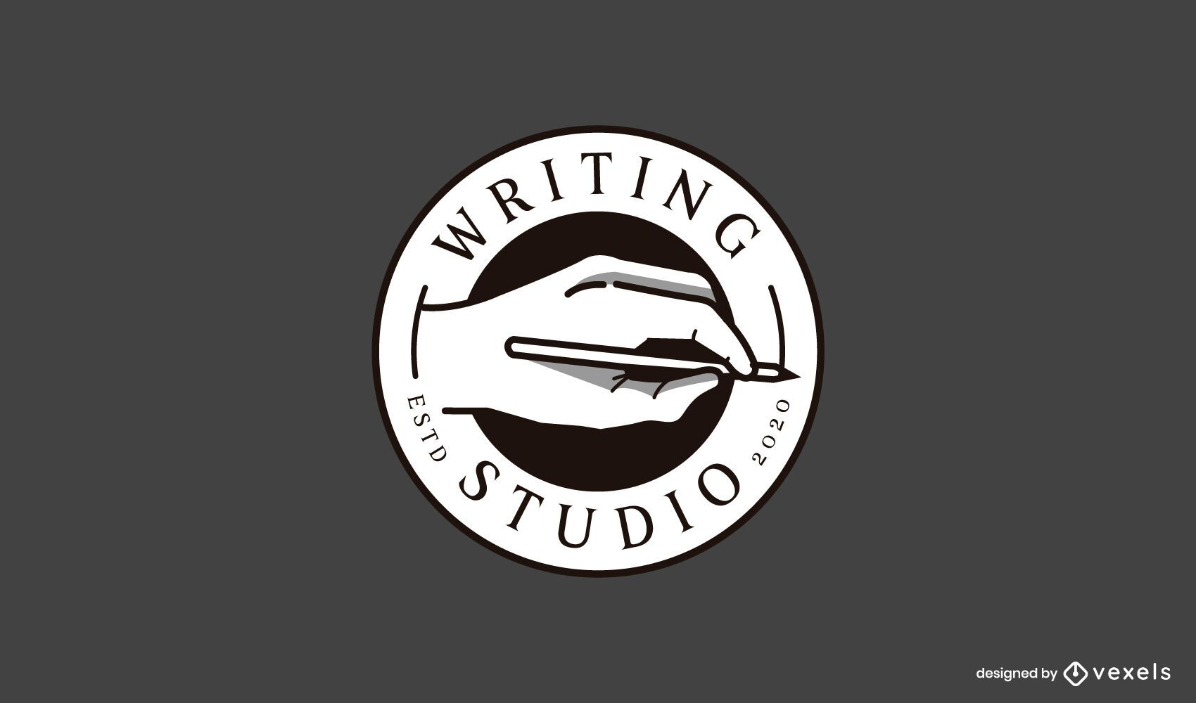 Writing studio business logo