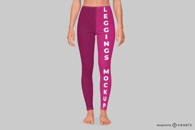 Design de maquete de legging frontal