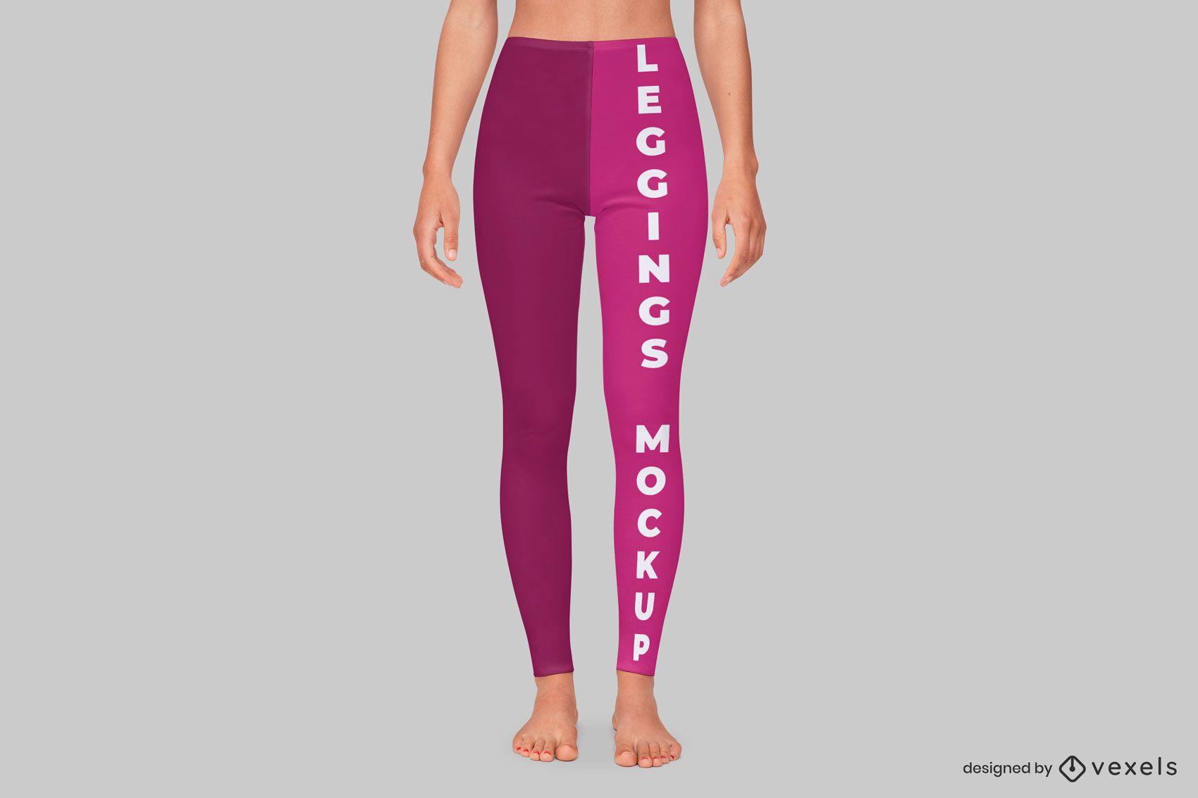 Front leggings mockup design